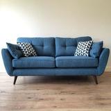 Sillon Sofa Retro Vintage Nordico 2 Cuerpos