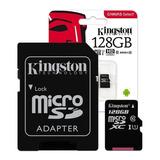 Memoria Micro Sd Kingston 128gb Clase 10 Microsd 80mb/s Full