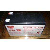 Bateria Yuasa 12v 7.2ah Np7.2-12fr Alarmas Ups