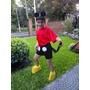 Disfraz De Mickey Mouse C/ Orejas Y Sus Zapatos!!!!!!!