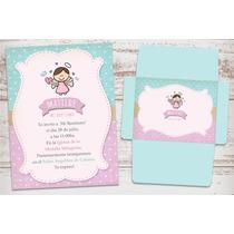 Kit Para Imprimir Angel Nena 1 Añito Bautismo Baby Shower