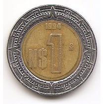 México Moneda De 1 Nuevo Peso Año1994 Km#550