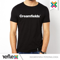 Remera Creamfields - 100% Algodón - Calidad Premium