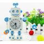 Reloj Despertador Robot Portalápiz Regalos Md