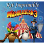 Kit Imprimible Madagascar 3 Invitaciones Tarjetas Frames