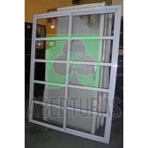 Aberturas: Ventana Balcon Alum Blanco Rep Horizontal 120x200