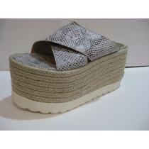 Sandalias Con Plataforma De Yute ! Hermosas!!!!