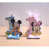Minie Y Mickey Bebe Primer Añito Fibrofacil.