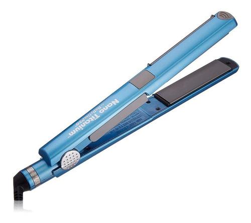 Planchita De Pelo Babyliss Pro U Styler Azul Con Placas De Cerámica Y Titanio 110v - Babnt2071