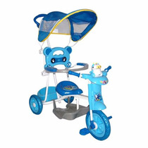 Triciclo Infantil Juguete Musica Luces Toldo Baby Shopping
