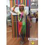 Pollera Hawaiana + Collar + Vincha + Pulseras - Disfraz Fluo