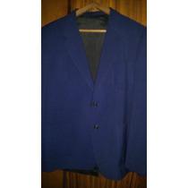 Saco De Vestir Alpaca Color Azul Talle 52