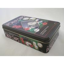 Caja Fichero De Pokker 100 Fichas Sin Numerar + 1 Dealer