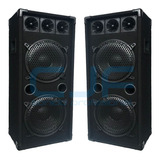 2 Parlante Columna Doble 10 1000 Watts Pmpo Profesional Cjf
