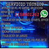 Servicio Tecnico De Pc Y Armado De Pc Gamer Service Pc
