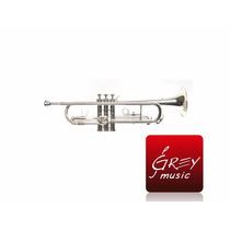 Trompeta Parquer Silver Custom Plateada-estuche-accesorios