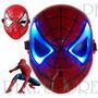 Mascara Hombre Araña Luz Led Spiderman Avengers Vengadores