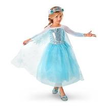 Vestido/disfraz De Elsa Frozen Original Disney Store Usa