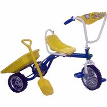 Triciclo Infantil Fenix C/ Volquete Y Pala Asiento Corredizo