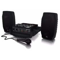 Behringer Ppa-200 Sistema De Sonido Portatil 200 Watts 5 Can