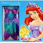 Disfraz Sirenita Princesa Ariel Sirena Regalo Cumple Vestido