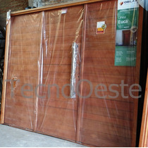 Portón Garage Madera Grandis Oblak 2331 Exterior De 3 Hojas