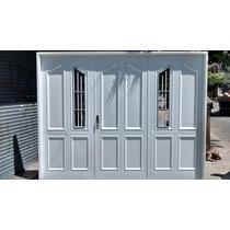 Porton Garage Chapa Inyectado Reforzado Chapa 18 2,40 X 2,00