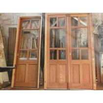Puerta De Una Hoja Cedro Restaurada A Medida