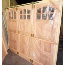 Porton Madera Cedro Garage Corredizo 250x208 Envios Tm02