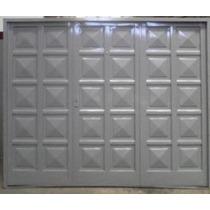 Portón Garage Económico Doble Chapa 240x200 Cm Cerradura