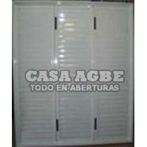 Postigon 2 Hojas De Abrir En Aluminio Blanco De 120 X 110