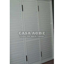 Postigon 3 Hojas De Abrir En Aluminio Blanco De 150 X 200