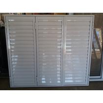 Postigon De Aluminio Blanco 150x150 3 Hojas