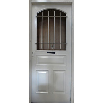 Puerta Chapa Inyectada Reforzada 80x200 Atex 1/2 Reja Abrir