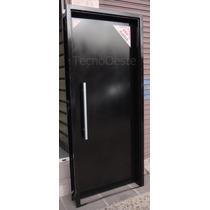 Puerta Seguridad Bunker 100% Chapa 18, Bisagras Blindadas