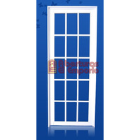 Puerta Aluminio Blanco 80x200 Vidrio Repartido
