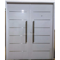 Porton Puerta Doble Pavir Imperia 160x200 Blanca Final Epoxy