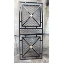 Puerta Reja Metal Desplegado Herreria
