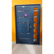 Puerta Y Media / Residencial Chapa Con Apliques Y Postigo