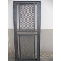 Puerta Reja De Seguridad Maya De Acero Y Marco Reforzado