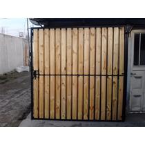 Puerta,porton De Hierro Y Madera,simple O Doble.en La Plata