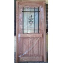 Puerta De 80x200 Tipo Antigua C/reja Y Vidrio Extra Porch