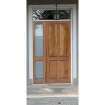Puerta Y Media En Cedro 140x230 C/vidrio Extra Porch