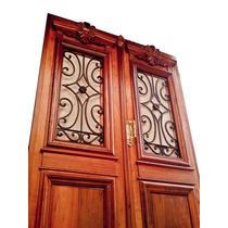 Atelier Puerta Entrada Antigua Cedro Tallada 1.60 X 2.30