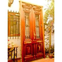 Atelier Puerta Entrada 2 Hojas Antigua Cedro Tallada