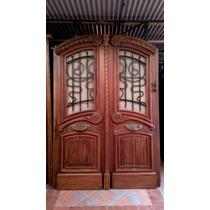 Atelier Puerta Entrada Antigua Cedro Tallada 1.70 X 2.44