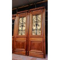 Atelier Puerta Entrada Antigua Cedro Tallada 1.60 X 2.28