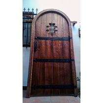 Atelier Puerta Entrada Antigua Cedro Medieval 1.05 X 2.17