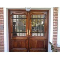 Puerta Tipo Antigua En Cedro 160x200 C/vidrio Extra Porch