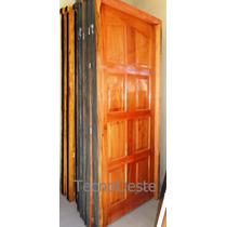 Puerta Exterior Madera Cedro Macizo Ciega 8 Tableros 80x200